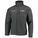 LSU Tigers Columbia Men's Omni-Shield Ascender Water/Wind Resistant Jacket - Grey