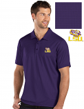 Antigua LSU Men's Purple Balance Polo
