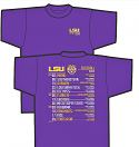 LSU Men's Bayou 2018 Football Schedule T-Shirt - Purple