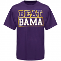 LSU Unisex Purple Beat Bama Short Sleeve Rivalry Game Day T-Shirt