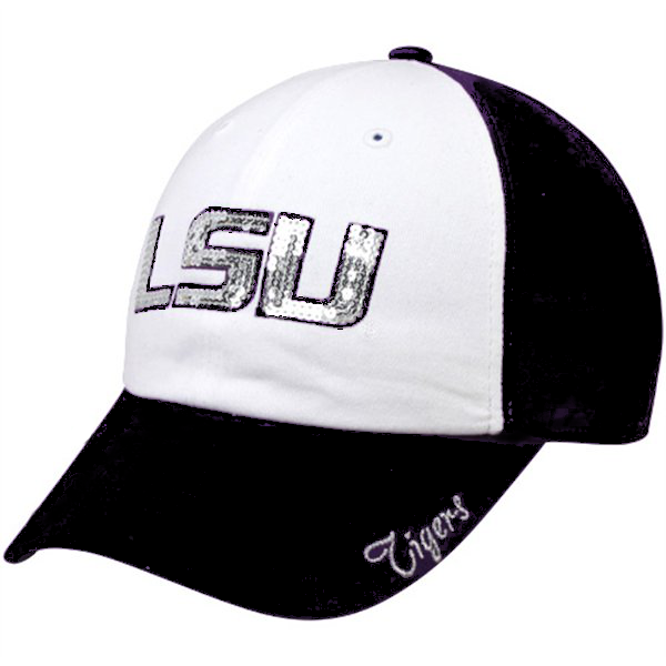 Forty Seven Brand LSU Tigers Womens Black and White Relaxed Adjustable Sparkle Cap