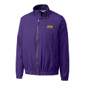 Cutter & Buck LSU Men's Purple Nine Iron Full Zip WeatherTec Jacket
