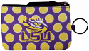 LSU Purple & Gold Polka Dot Keychain Coin Purse