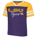 Colosseum LSU Toddler Girl's Sky Flower Football Tee
