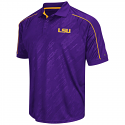 Colosseum LSU Men's Purple Sleet Synthetic Polo