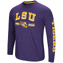 Colosseum LSU Men's Dual Blend Long Sleeve Touchdown Pass T-Shirt