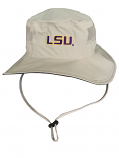 Columbia LSU Tigers Men's Bora Bora Booney Bucket Hat - Khaki