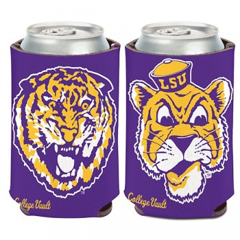 LSU Tigers College Vault Pocket Can Koozie