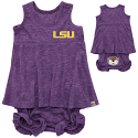 Colosseum LSU Infant Girl's Snorkasaurus Dress & Bloomer Set
