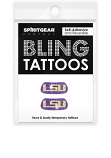 LSU Eyeblack Bling Tattoos