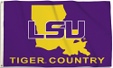 LSU Tiger Country State Outline Premium 3' X 5' Flag