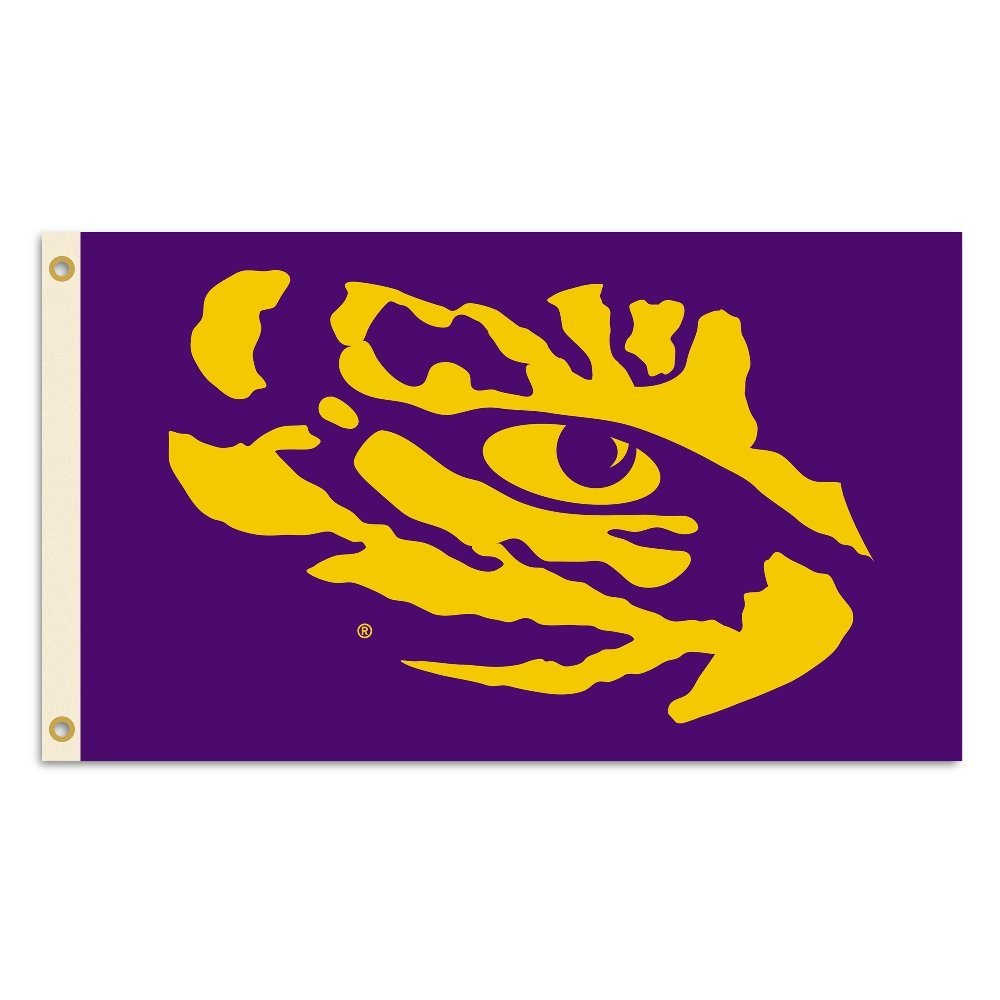 LSU Tigers Premium 3' x 5' Purple Tiger Eye Flag