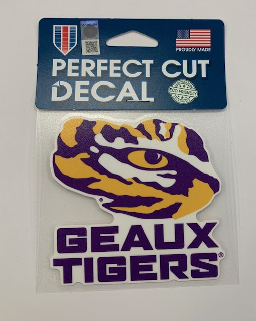 """LSU Tigers Geaux Tigers Decal 4"""""""
