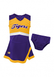 Gen 2 LSU Girl's Purple & Gold Cheer Jumper Dress with Bloomers
