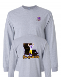LSU Licensed Joe Burrow Bayou Jeaux Burreaux #9 One of Our Own LONG SLEEVE T-Shirt - Grey