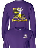LSU Licensed Joe Burrow Bayou Jeaux Burreaux #9 One of Our Own LONG SLEEVE T-Shirt - Purple