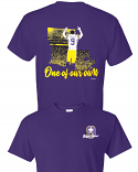 LSU Licensed Joe Burrow Bayou Jeaux Burreaux #9 One of Our Own Short Sleeve T-Shirt - Purple