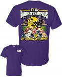 LSU National Champions HELMET STACK Short Sleeve T-Shirt - Purple