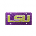 LSU Glitter Glitz Purple and Gold Durable Acrylic License Tag