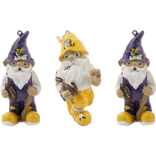 LSU Tigers 3-Pack Mini Gnome Ornament Set