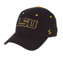 Zephyr LSU Black Element Structured Size Hat