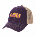 Zephyr LSU Purple & Beige Tatter Relaxed Adjustable Cap