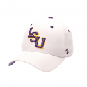 Zephyr LSU White DH Core Fitted Structured Hat