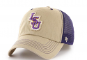 LSU 47 Brand Taylor Closer Fitted Clean Up Mesh Hat - Khaki & Purple