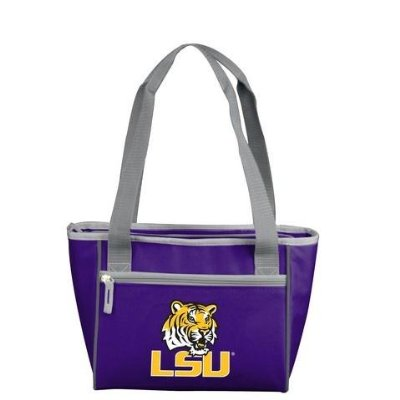 Logo LSU Tigers Purple 8 Can Cooler Tote