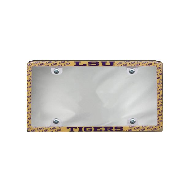 LSU Tigers Mini Thin Rim Clear Tabs License Plate Frame