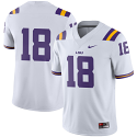 Nike LSU Youth & Child's White #18 Football Game Jersey