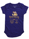 LSU Tigers Infant Special Delivery Announcement Onesie - Purple