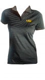 LSU Women's Antigua Black Stripe Quest Polo