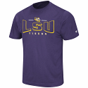 Colosseum LSU Men's Purple Heather Hooked Performance Tee