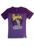 LSU Boy's Purple Baseball Glove Tee