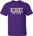 LSU Adult Purple Classic Mom Bar Design Cotton Tee