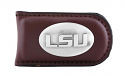 Zep-Pro LSU Genuine Brown Leather Money Clip with Concho