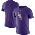 Nike LSU Men's Purple Baseball Logo Legend Performance Tee