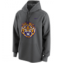 Nike Men's LSU Tigers Retro Tiger Circuit Performance Pullover Hoodie - Grey