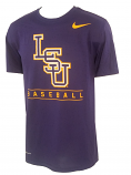 Nike LSU Men's Purple Dri-FIT Baseball Tee