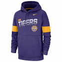 Nike LSU Men's Purple Therma On-field Pullover Hoodie