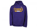 Nike Boy's Youth Therma Color Block Hoodie - Purple