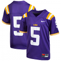 Nike LSU Boy's #5 Replica Football Jersey - Purple