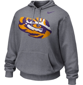 Nike LSU Tigers Grey Carbon Fiber Therma-Fit Performance Pullover Hoodie