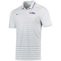 Nike LSU Men's Grey & White Striped Performance Polo