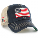 OHT 47 Brand Navy & Beige Operation Hat Trick Trawler Clean Up Flag Hat