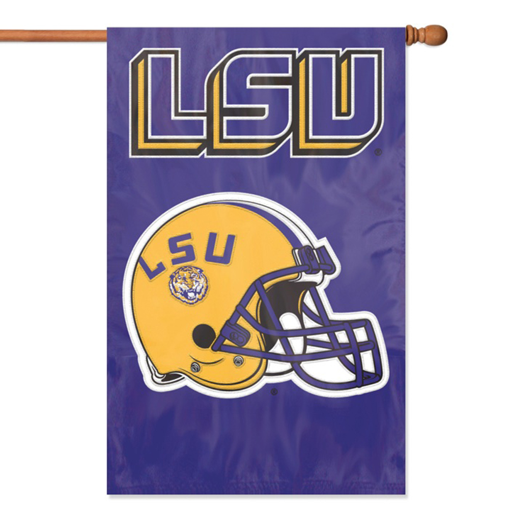 "LSU Tigers 44"" x 28"" Oversized 2-Sided Helmet Banner Flag"