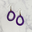 Game Day Flying Colors PurplePear Tagua Earrings