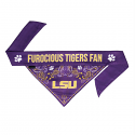 LSU Reversible Two-Sided Pet Bandana - Purple & Gold