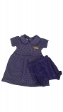 LSU Infant Purple Polka Dot Peter Pan Dress and Bloomer (Bloomer on Infant size only)